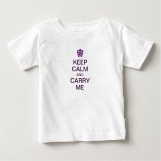 Camiseta Para Bebê Mantenha a calma e leve-me