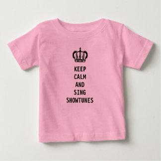 Camiseta Para Bebê Mantenha calmo e cante Showtunes