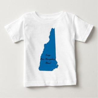 Camiseta Para Bebê Mantenha New Hampshire azul! Orgulho Democrática!
