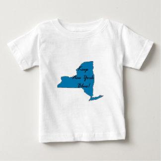 Camiseta Para Bebê Mantenha New York azul! Orgulho Democrática!