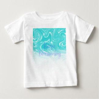 Camiseta Para Bebê Mantenha sonhar a tipografia no design de mármore