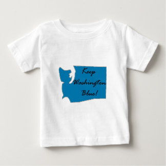 Camiseta Para Bebê Mantenha Washington azul! Orgulho Democrática!