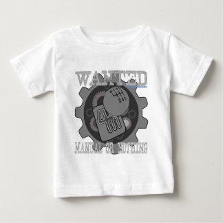 Camiseta Para Bebê manual querido ou nada (caixa de engrenagens)