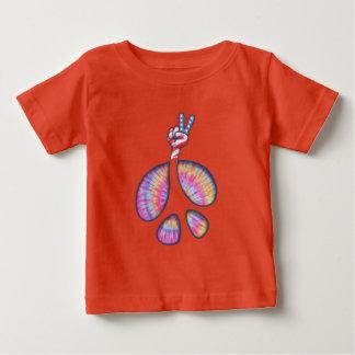 Camiseta Para Bebê mão da bandeira do sinal de paz