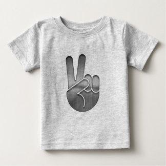 Camiseta Para Bebê Mão da paz do cromo