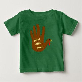 Camiseta Para Bebê Mão Turquia