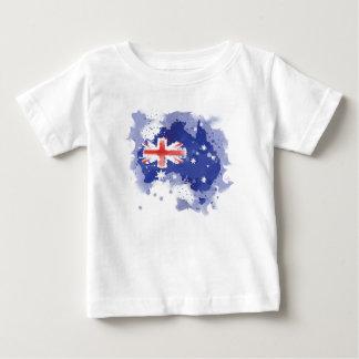 Camiseta Para Bebê Mapa da aguarela de Austrália