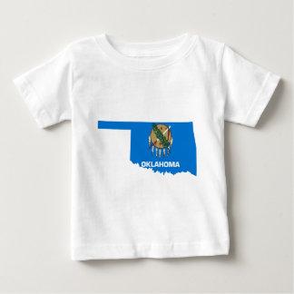 Camiseta Para Bebê Mapa da bandeira de Oklahoma