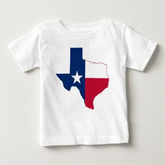 Camiseta Para Bebê Mapa da bandeira de Texas