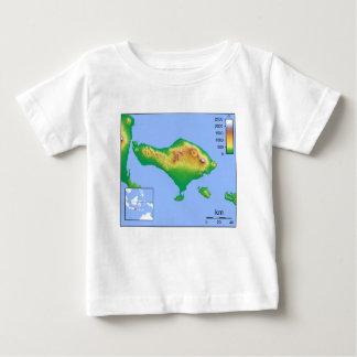 Camiseta Para Bebê Mapa de Bali