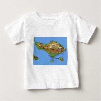 Camiseta Para Bebê Mapa de Bali Holliday