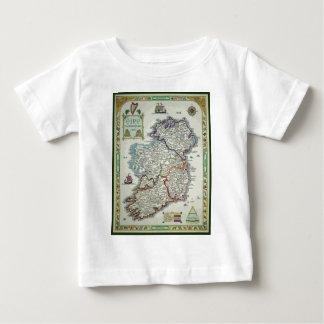 Camiseta Para Bebê Mapa de Ireland - mapa histórico de Eire Erin do