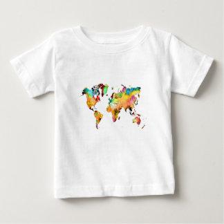 Camiseta Para Bebê mapa do mundo