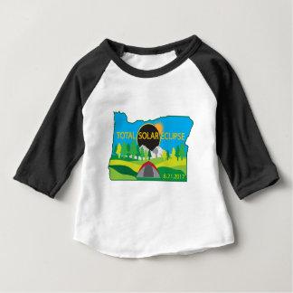 Camiseta Para Bebê Mapa total da viagem de acampamento do eclipse