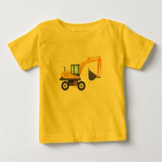 Camiseta Para Bebê Máquina escavadora amarela bonito para miúdos