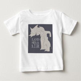 Camiseta Para Bebê Mar da terra & ar - t-shirt do miúdo