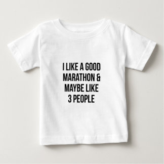 Camiseta Para Bebê Maratona & 3 pessoas