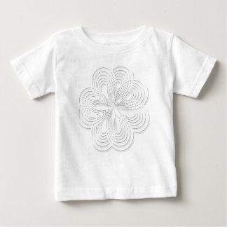 Camiseta Para Bebê marca redonda do design do círculo do rosette