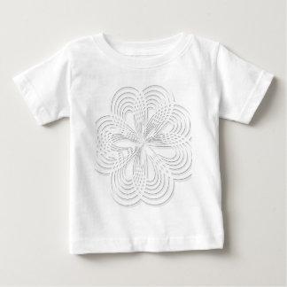 Camiseta Para Bebê marca redonda do design do círculo do rosette do