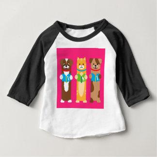 Camiseta Para Bebê Marcador do gato e do cão