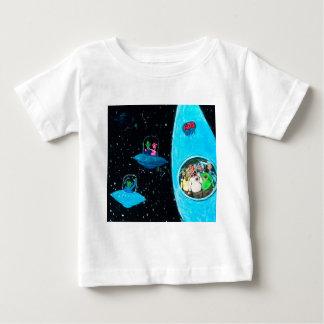 Camiseta Para Bebê Marciano e vacas
