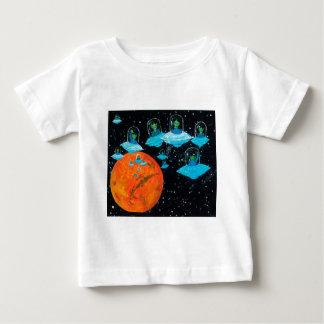 Camiseta Para Bebê Marciano estão irritados