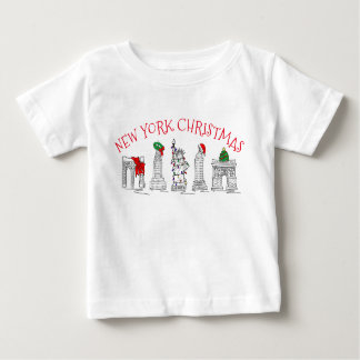 Camiseta Para Bebê Marcos Brooklyn do feriado do Natal NYC de New