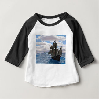 Camiseta Para Bebê Mares ásperos adiante