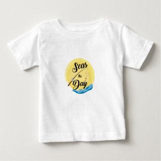 Camiseta Para Bebê Mares o dia