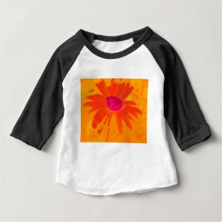 Camiseta Para Bebê Margarida alaranjada