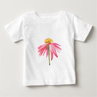 Camiseta Para Bebê Margarida cor-de-rosa