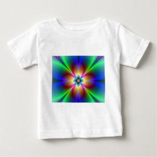 Camiseta Para Bebê Margarida de néon