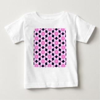Camiseta Para Bebê Margaridas cor-de-rosa robustas no preto