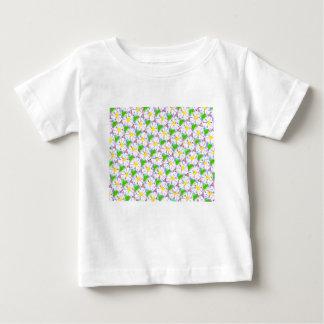 Camiseta Para Bebê margaridas telhadas