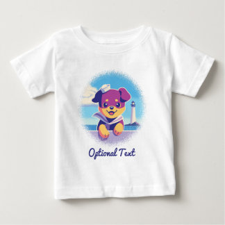 Camiseta Para Bebê Marinheiro do cão de mar do filhote de cachorro de