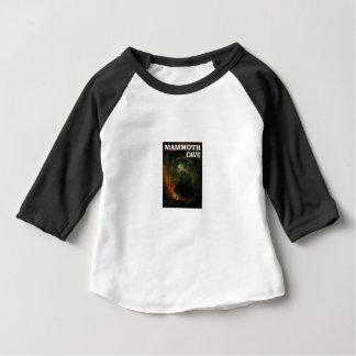 Camiseta Para Bebê marrom gigantesco da caverna