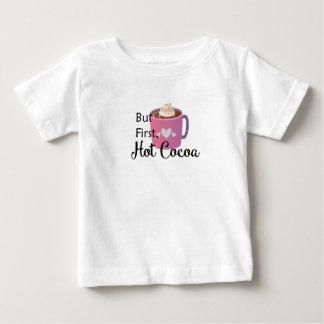 Camiseta Para Bebê Mas primeiramente, cacau quente