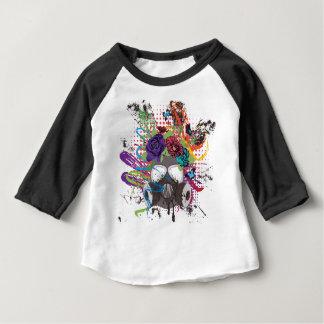 Camiseta Para Bebê Máscara de gás com rosas 5