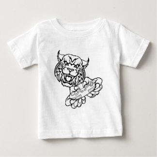 Camiseta Para Bebê Mascote desorganizada do Gamer