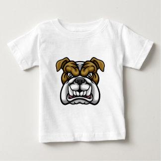Camiseta Para Bebê Mascote média dos esportes do buldogue