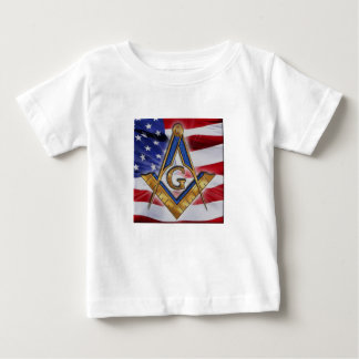 Camiseta Para Bebê masonicflag