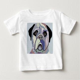 Camiseta Para Bebê Mastiff em cores da sarja de Nimes
