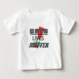 Camiseta Para Bebê MATÉRIA DAS VIDAS DOS GATOS! T-shirt fino do