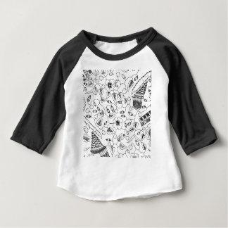Camiseta Para Bebê Matéria têxtil indonésia florido com pássaros