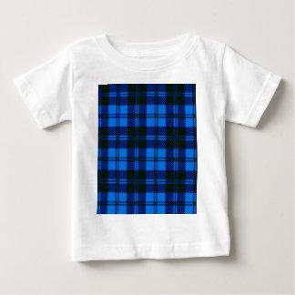 Camiseta Para Bebê Material azul de lãs do Tartan