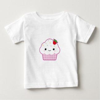 Camiseta Para Bebê Material do bebê do cupcake de Kawaii