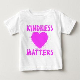 Camiseta Para Bebê MATÉRIAS da BONDADE, tinta do rosa quente