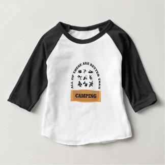 Camiseta Para Bebê mau de acampamento nao bom