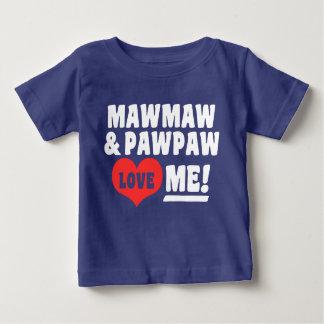 Camiseta Para Bebê MawMaw e o PawPaw amam-me