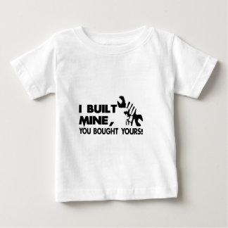 Camiseta Para Bebê Mecânico, mina construída